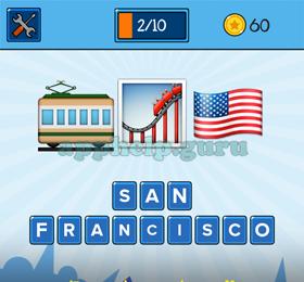 EmojiNation: Emojis Tram, Rollercoaster, USA Flag Answer - Game Help