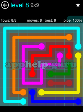 27+ Flow Free Level 8 9X9 PNG