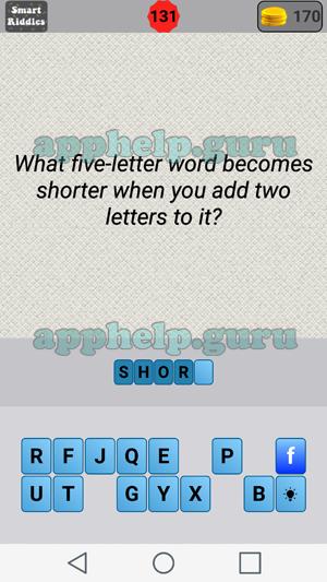 Smart Riddles: Level 131 Answer   Game Help Guru
