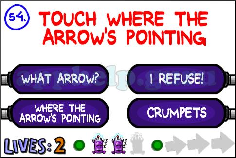The Impossible Quiz 2 iOS Level 54