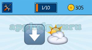 EmojiNation: Emojis Down Arrow, Cloud Answer