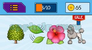 EmojiNation: Emojis Tree, Leaves, Flower, Dog Answer