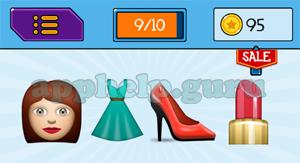 EmojiNation: Emojis Girl, Dress, Shoe, Lipstick Answer