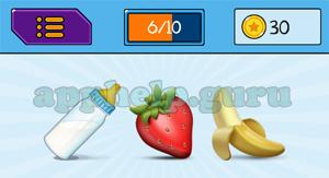 EmojiNation: Emojis Bottle, Strawberry, Banana Answer
