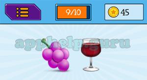 EmojiNation: Emojis Grapes, Wine Answer
