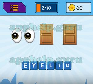 Main Game 6 Letters Emojis Eyes Door Door Answer  sc 1 st  Gamehelp.guru & EmojiNation: Emojis Eyes Door Door Answer - Game Help Guru