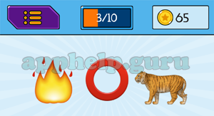 EmojiNation: Emojis Fire, Ring, Tiger Answer