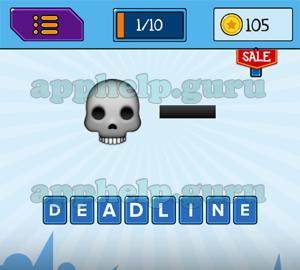 Main Game: 8 Letters Skull, Line
