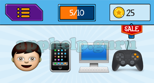 EmojiNation: Emojis Boy, Phone, Computer, Controller Answer