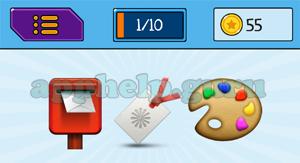 EmojiNation: Emojis Postbox, Card, Palette Answer