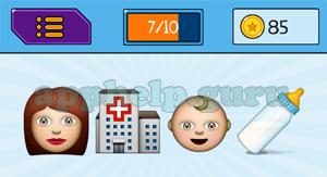 EmojiNation: Emojis Woman, Building, Baby, Bottle Answer