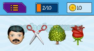 EmojiNation: Emojis Man, Scissors, Tree, Flower Answer