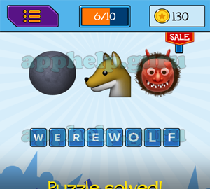 Main Game: 8 Letters Black Circle, Wolf, Monster