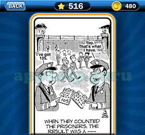 Just Jumble: Level 516 When they counted the prisoners the result was a Answer