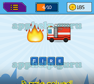 Main Game: 4 Letters Fire, Truck