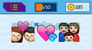 EmojiNation: Emojis Kissing, Love Heart, Family Answer