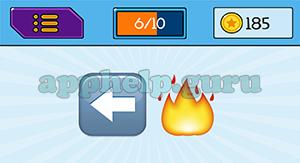EmojiNation: Emojis Left Arrow, Fire Answer