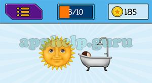 EmojiNation: Emojis Sun, Bath Answer