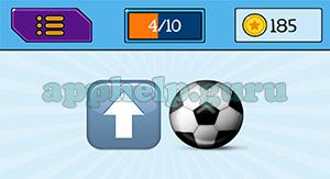 EmojiNation: Emojis Up Arrow, Football/Soccer Ball Answer