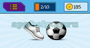EmojiNation: Emojis Shoe, Football/Soccer Ball Answer