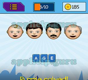 emojination emojis baby boy man old man answer game help guru
