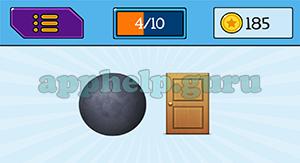 EmojiNation: Emojis Black Circle, Door Answer