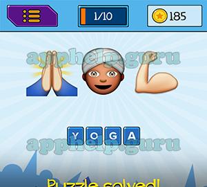 EmojiNation: Emojis Pray, Turban Man, Arm Muscle Answer
