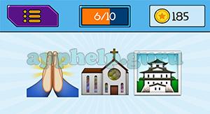 EmojiNation: Emojis Pray, Church, Temple Answer