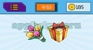 EmojiNation: Emojis Flowers, Present Answer