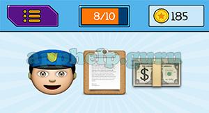 EmojiNation: Emojis Police Man, Clipboard, Money Answer