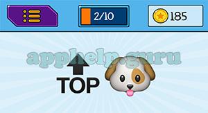 EmojiNation: Emojis Top Arrow, Dog Answer