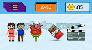 EmojiNation: Emojis Couple, Flower, Chocolate, Movie Board Answer