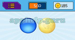 EmojiNation: Emojis Blue Circle, Moon Answer