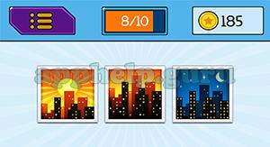 EmojiNation: Emojis City with Sun, City, City at Night Answer