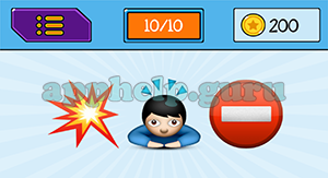 EmojiNation: Emojis Explosion, Man with Head Arrows, Stop Sign Answer