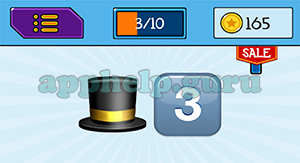 EmojiNation: Emojis Hat, 3 Answer