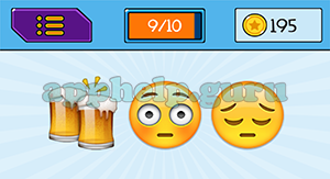 EmojiNation: Emojis Beer, Face, Tired Face Answer