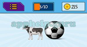 EmojiNation: Emojis Cow, Ball Answer