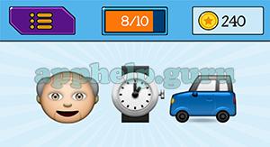 EmojiNation: Emojis Old Man, Watch, Car Answer