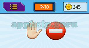 EmojiNation: Emojis Hand, Stop Sign Answer