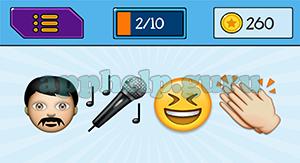 EmojiNation: Emojis Man, Microphone, Smiley, Hands Answer