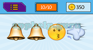 EmojiNation: Emojis Bell, Bell, Face, Wind Answer
