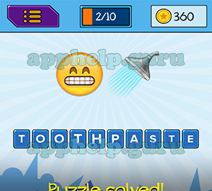 Main Game: 10 Letters Tooth Face, Shower