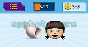 EmojiNation: Emojis Shell, Girl Answer
