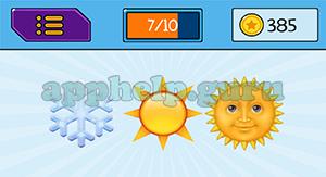 EmojiNation: Emojis Snowflake, Sun, Sun Answer