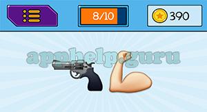 EmojiNation: Emojis Gun, Muscle Arm Answer