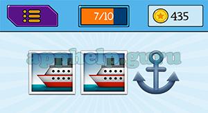EmojiNation: Emojis Boat, Boat, Anchor Answer