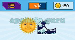 EmojiNation: Emojis Sun, Ocean Answer