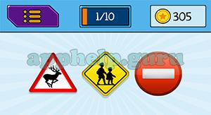 EmojiNation: Emojis Deer Sign, Walking Sign, Stop Sign Answer