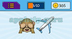 EmojiNation: Emojis Monkey, Airplane Answer